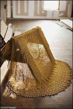 sunburst lace blanket