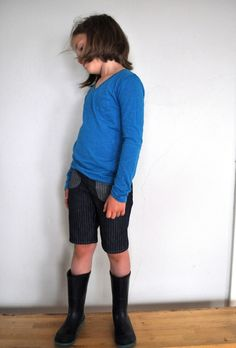 railroad stripe shorts