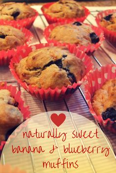Moist and delicious, these lunchbox-friendly banana-blueberry muffins are sweet enough as they are, making them a healthy treat that children will love.