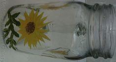 Hand Painted  Bear Mug  Glass