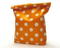 Lunchbag orange dots de kids&co sur DaWanda.com