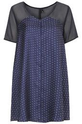 Polka Dot Silk Swing Dress by Boutique