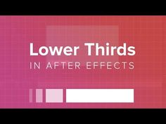 How to Create a Lower Third in After Effects - YouTube