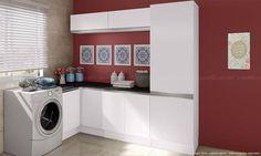 Lavanderia branca e simples. Clique na imagem para saber mais.