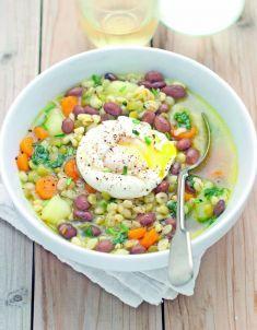 minestra di grano e legumi