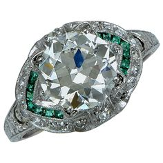 Art Deco Diamond Engagement Ring For Sale at 1stdibs