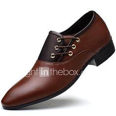 f5eb947441 Hombre Zapatos formales PU Otoño   Invierno Negocios Oxfords Negro    Amarillo   Marrón   Fiesta y Noche   Zapatos De Vestir
