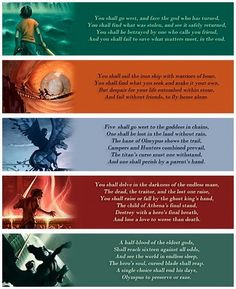 The prophecies from each book.
