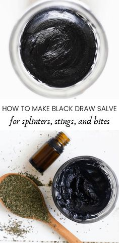 How to make black drawing salve for splinters, bites, stings, and skin irritations. Homemade drawing salve recipe for all-natural home remedies. remedies baking soda remedies diy home remedies skin care remedies sore throat remedies treats Cold Home Remedies, Natural Health Remedies, Herbal Remedies, Sleep Remedies, Holistic Remedies, Black Drawing Salve, Bites And Stings, Salve Recipes, Herb Recipes
