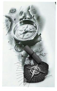 Ragnar, Custom Tattoo, Compass Tattoo, Tattoo Designs, Posters, Tattoos, Mini, Butterfly Back Tattoo, Tattoo Ship
