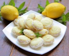 Fursecuri cu lamaie - Desert De Casa - Maria Popa Vegetable Snacks, Romanian Food, Hungarian Recipes, Pastry Cake, Food Cakes, Easy Desserts, Food To Make, Cake Recipes, Bakery