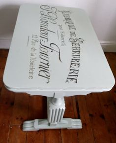 Coffee table with hand painted vintage French by Furniturefruit
