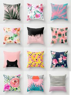 pink throw pillows - is home to hundreds of thousands of artists from around the globe, uploading and selling their original works as Pink Throw Pillows, Cute Pillows, Throw Blankets, The Sims, Sims 4, Girls Bedroom, Bedroom Decor, Pillow Design, Designer Pillow