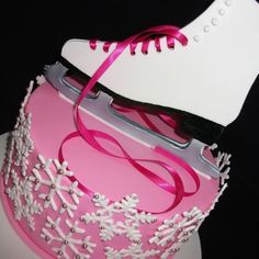 Ice Skate's and Snow Flakes cake.