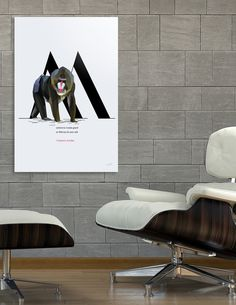 Discover «M for Mandrill», Exclusive Edition Acrylic Glass Print by Diana Hlevnjak - From $85 - Curioos