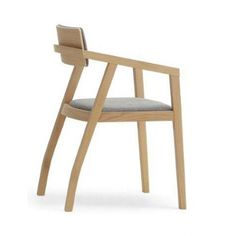 Aki - Upholstered arm chair with wood frame in oak or natural beech. Contemporary Armchair, Modern Armchair, Modern Contemporary, Cafe Restaurant, Restaurant Design, Wooden Cafe, Upholstered Arm Chair, Restaurant Furniture, Side Chairs