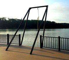 Lake Dock, Boat Dock, Swimming Pool Slides, Lake Rafts, Floating Raft, Beach House Plans, Rope Swing, Lake Resort, Lake Cabins