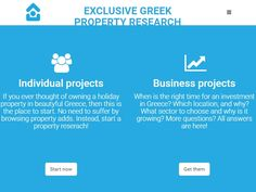 Exclusive Greek Property Research Portfolio Web Design, Right Time, Investment Property, Design Development, Research, Investing, Greek, Thoughts, Website