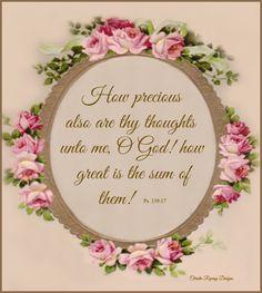 ❤️Bible verses ~ Psalm 139:17