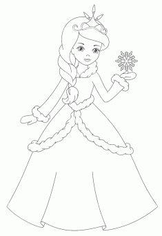 Prenses Boyama Sayfası Boyama Pinterest Princess Coloring