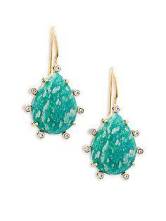 ALANNA BESS Multi-Stone Drop Earrings Fashion Themes, White Topaz, Earring Set, 18k Gold, Turquoise Necklace, Women Jewelry, Drop Earrings, Stone, Womens Fashion