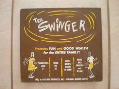 Vintage 60's The SWINGER by GAY-NOR Products Chicago, IL Fun Exercise Retro Game