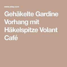 Gehäkelte Gardine Vorhang mit Häkelspitze Volant Café