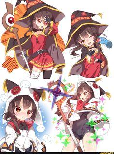 #Explosion #Megumin #perfect Konosuba Anime, Fan Art Anime, Anime Art Girl, Manga Girl, Megumin Explosion, Lolis Neko, Character Art, Character Design, Bd Art