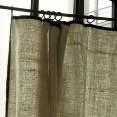 Khadi curtain Source by jaminiparis Curtains With Blinds, Sheer Curtains, Drapery, Hemnes, Window Coverings, Window Treatments, Airstream Interior, Vintage Airstream, Retail Interior