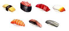 Watercolored Sushi Girls Patterns on Behance