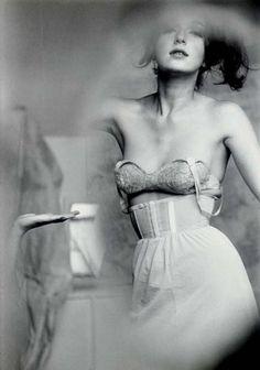 Test Shot for Lingerie, Harper's Bazaar, 1963 by Saul Leiter.