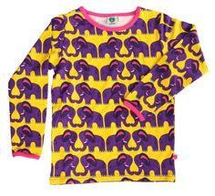 Småfolk tröja LS elephants gul