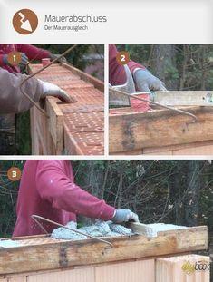 Ein Mauerabschluss dient dazu, die Unebenheiten der letzten Ziegelschar auszugleichen. Wie ein solcher Mauerausgleich hergestellt wird, zeigt folgender Artikel.