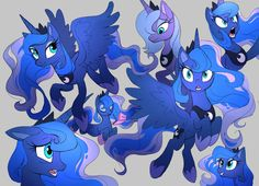 Luna sketches by Shira-hedgie on DeviantArt My Little Pony Comic, My Little Pony Characters, My Little Pony Drawing, My Little Pony Pictures, Celestia And Luna, Princess Celestia, My Little Pony Wallpaper, Nightmare Moon, Princess Twilight Sparkle