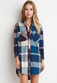 Plaid Shirt Dress | Forever 21 | #thelatest