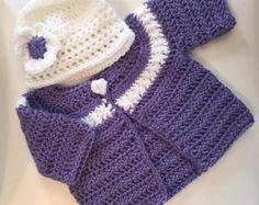 Niña vestido de Crochet por lilizcreations en Etsy