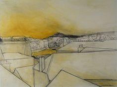 St Ives No.3, 1985, charcoal, oil, conté crayon on paper