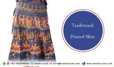 Wear rajasthani printed skirt this summer