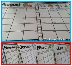 Free 2014-15 school year calendar - one or two page