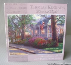 NEW THOMAS KINKADE Painter of Light Hometown Pride Jigsaw Puzzle 1000 Pieces