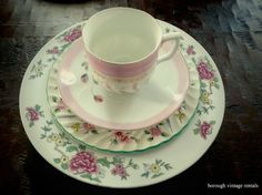 mix and match antique dinnerware | We supply mix and match fine china rentals for weddings and events