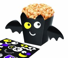 Wilton 415-0514 Halloween Bat Popcorn Box Kit, 4 Count by Wilton.