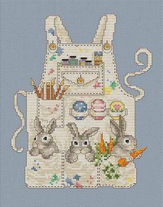 Easter Bunny's Apron - Cross Stitch Pattern