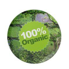 100% Organic Dinner Plate