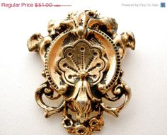 Big Sale Victorian Heraldic Gold Filled by TheJewelryLadysStore, $40.80