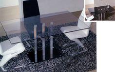 Mesa rectangular de cristal Diseño original Medidas disponibles: Altura 75 cm Largo 150 x 90 cm