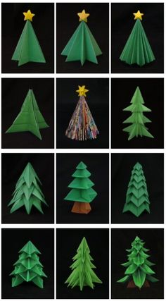 photo tutorial folding 5 pointed origami star christmas ornaments using upcycled paper. Black Bedroom Furniture Sets. Home Design Ideas