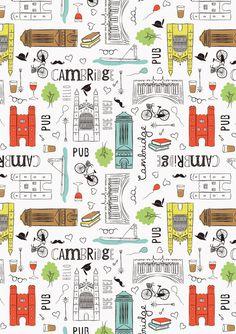 Emily Kiddy: Cambridge Themed Illustration