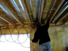 How to install thermofin radiant heating system under floor - Do It Yourself contact Radiant Engineering