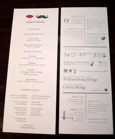 This is a cool way to tell all of your guests just how you two got to the big day!